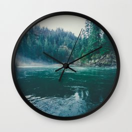 Clackamas River Wall Clock
