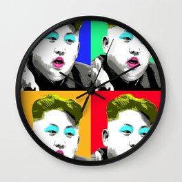Marilyn Jong Un x 4 Wall Clock