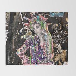 Rehab Amy Graffiti in New York City Throw Blanket