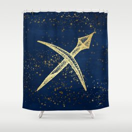 Sagittarius Zodiac Sign Shower Curtain