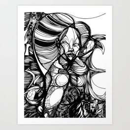 White Queen. 2013. Art Print