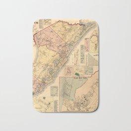 Map Of Cape May 1872 Bath Mat