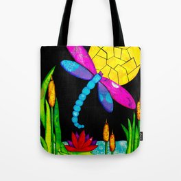 Find Your Way - paper pieced dragonfly Tote Bag