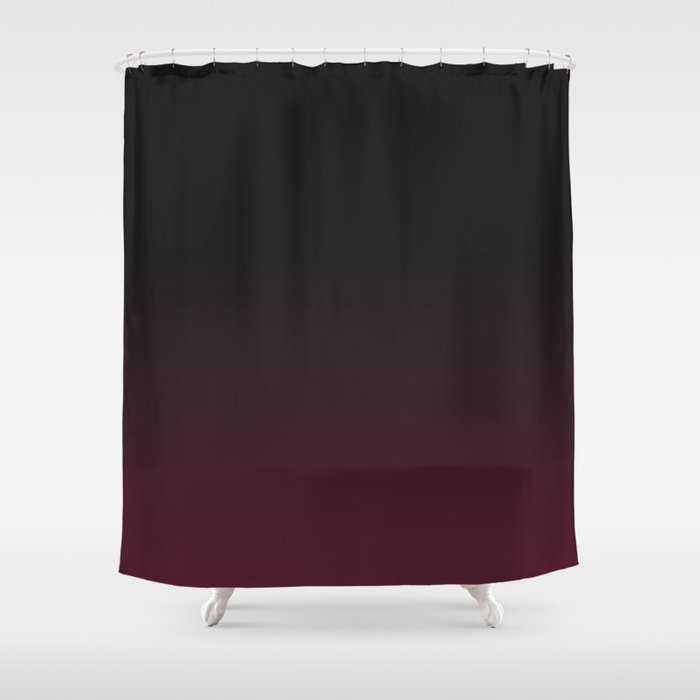 Faded Background Burgundy Color Change Shower Curtain