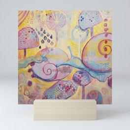 Curious Snail Friends Mini Art Print