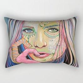 Abstract Art Women Portrait Painting ... Soul of Sunshine Rectangular Pillow