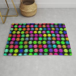 Shimmering beads, colorful Rug