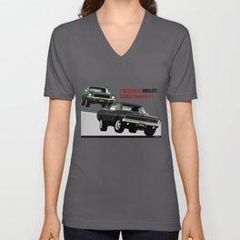Ford Mustang and Dodge Charger from Bullitt Unisex V-Neck