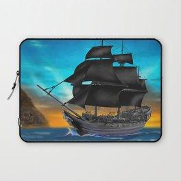 Pirate Ship at Sunset Laptop Sleeve