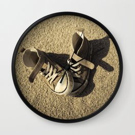 Lost shoes Wall Clock