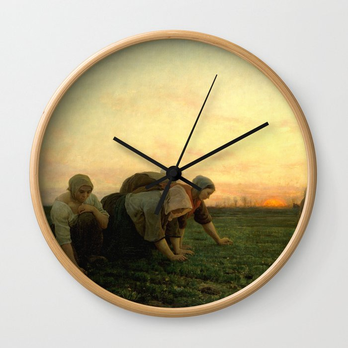 Jules Breton - The Weeders Wall Clock