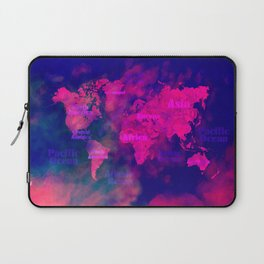 world map 114 3D #worldmap #map Laptop Sleeve
