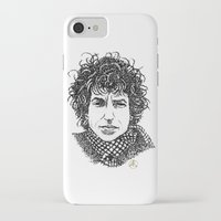 bob dylan iPhone & iPod Cases featuring Bob Dylan by The Curly Whirl Girly.