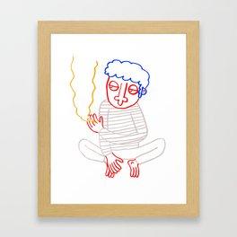 Good Guy Smoking Framed Art Print