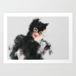Selina the Cat Art Print