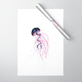 the dance - jellyfish and bubble (pink / purple) Wrapping Paper