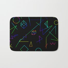 Neon Geometry Bath Mat
