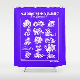 Mutaboids Shower Curtain