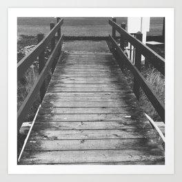 Wood Bridge Art Print