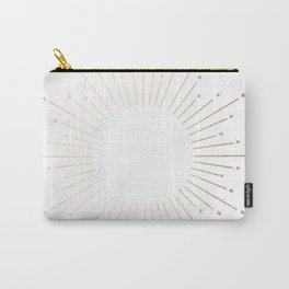 Simply Sunburst in White Gold Sands on White Carry-All Pouch
