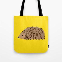 Hedgehog on yellow Tote Bag