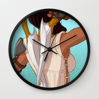 booty Wall Clocks featuring Booty by MJ Erickson