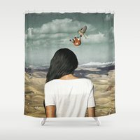 crown Shower Curtains featuring The Crown by Seamless