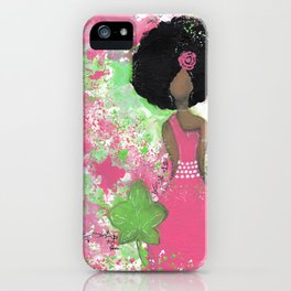 Dripping Pink and Green Angel iPhone Case
