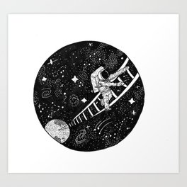 Ladder to the Cosmos Art Print