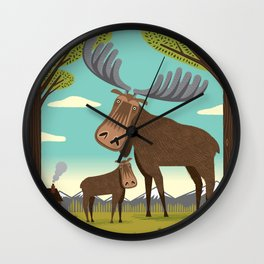 The Magnificent Moose Wall Clock