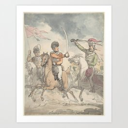 Unused study for a plate to Hungarian and Highland Broadsword Exercise Feb. 12, 1799 Art Print