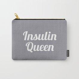 Insulin Queen Script (Gray) Carry-All Pouch