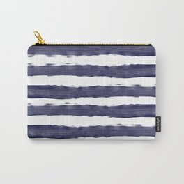 Blue- White- Stripe - Stripes - Marine - Maritime - Navy - Sea - Beach - Summer - Sailor 1 Carry-All Pouch