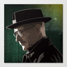 Breaking Bad Illustrated - Walter White Canvas Print