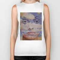 mona lisa Biker Tanks featuring Mona Lisa by Michael Creese