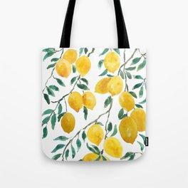 yellow lemon watercolor 2020 Tote Bag
