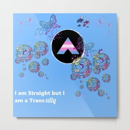 I am Straight but I am a Trans Ally Metal Print