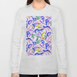 Brushstroke Party Wild & Free Long Sleeve T-shirt