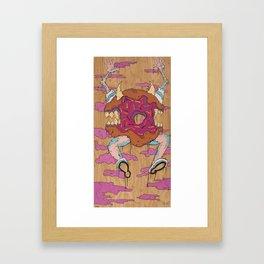 Evil Doughnut  Framed Art Print