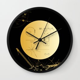 Voyager 1 Golden Record #3 Wall Clock