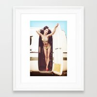 trailer park boys Framed Art Prints featuring trailer park girl by six inch stiletto