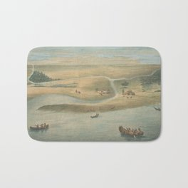 Vintage Map of Chicago in 1820 Bath Mat