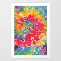 tie dye Art Prints featuring Tie Dye by The Dope Scope
