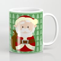 santa Mugs featuring Santa by Alapapaju