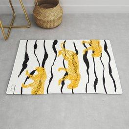 Yellow Leopard - Minimal Safari Print Rug