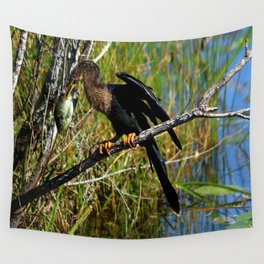 A Darters Meal Wall Tapestry