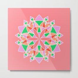 Kaleidoscope Mandala Pattern Metal Print