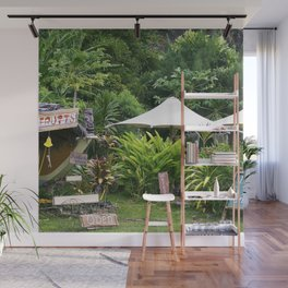 Fruit Stand in Tropical French Polynesia Wall Mural