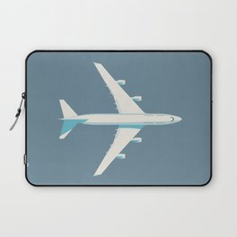 747-400 Jumbo Jet Airliner Aircraft - Slate Laptop Sleeve