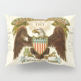 State arms of the union / 1876 Pillow Sham